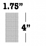 "1.75"" x 4"""