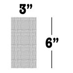 "3"" x 6"""