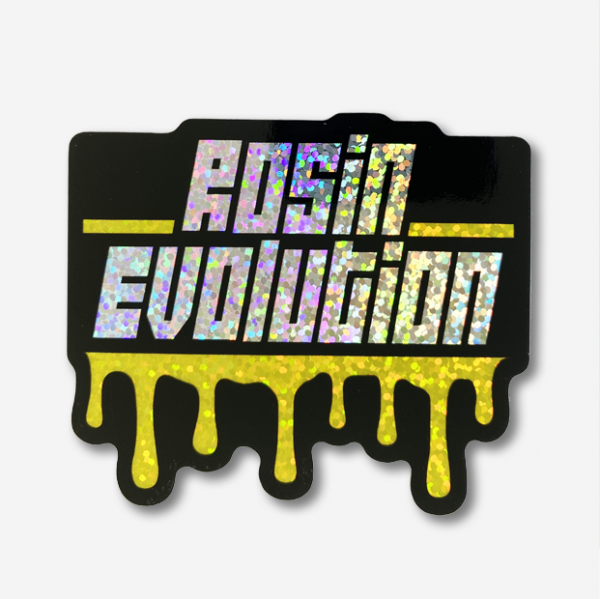 Rosin Evolution Glitter Sticker