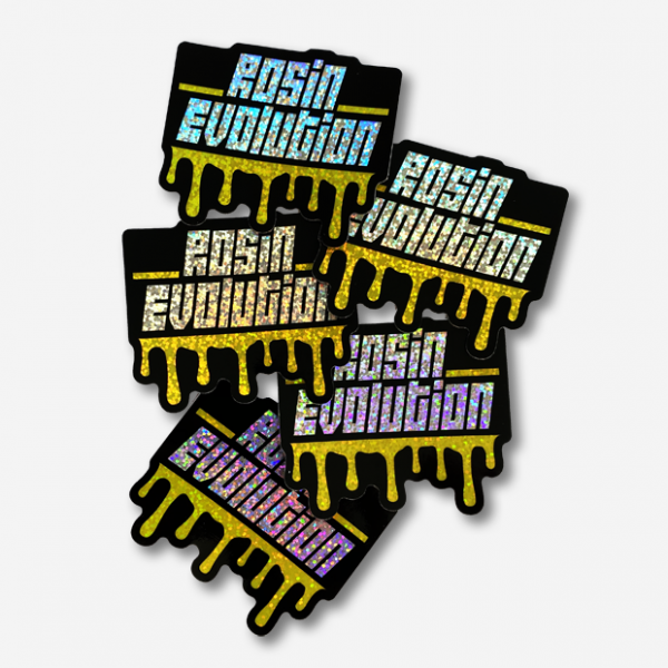 Rosin Evolution Glitter Stickers
